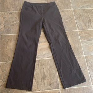 Eileen Fisher casual cotton brown pants